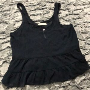 Navy blue sheer Abercrombie and Fitch tank top